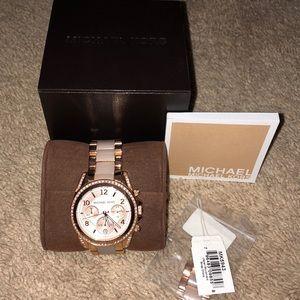 Blair' Crystal Bezel Two-Tone Bracelet Watch, 39mm